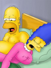 Homer is satisfying his man needs